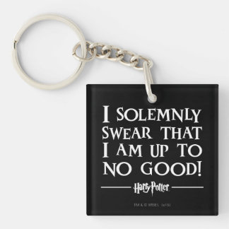 Harry Potter Spell | I Solemnly Swear Double-Sided Square Acrylic Key Ring