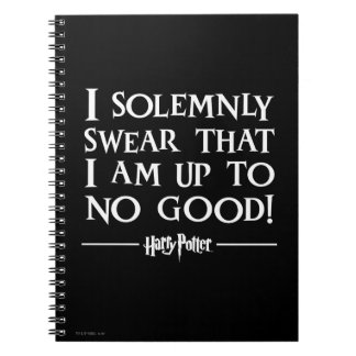 Harry Potter Spell | I Solemnly Swear Notebooks
