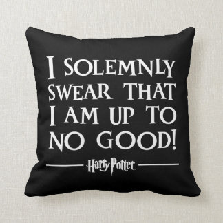 Harry Potter Spell   I Solemnly Swear Throw Pillow