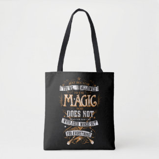 Harry Potter Spell   Just Because You're Allowed T Tote Bag