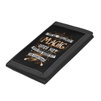 Harry Potter Spell | Just Because You're Allowed T Trifold Wallets