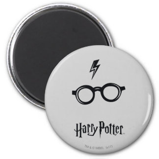 Harry Potter Spell   Lightning Scar and Glasses 6 Cm Round Magnet