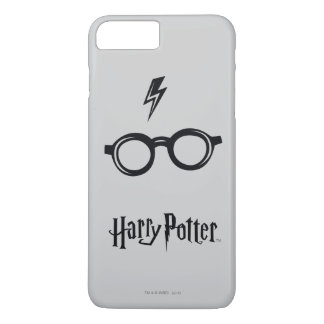 Harry Potter Spell | Lightning Scar and Glasses iPhone 8 Plus/7 Plus Case