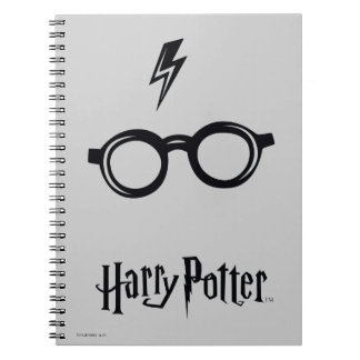 Harry Potter Spell | Lightning Scar and Glasses Notebooks