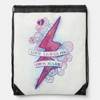 Harry Potter Spell | Love Leaves Its Own Mark Drawstring Bag