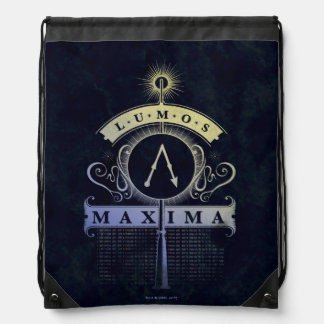 Harry Potter Spell | Lumos Maxima Graphic Drawstring Bag