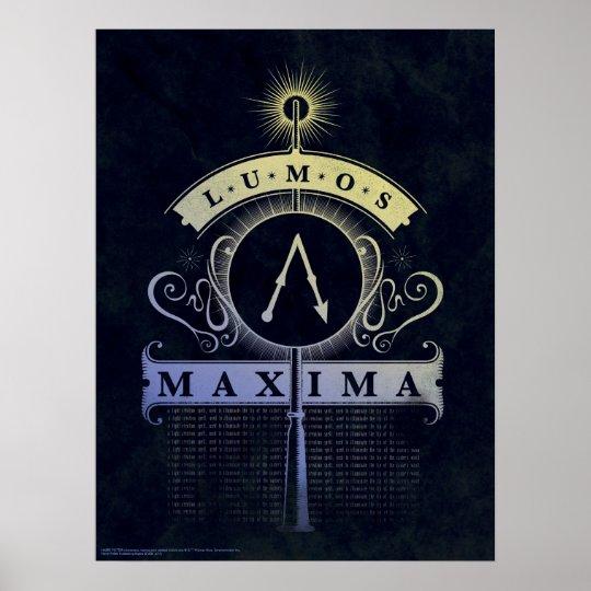 Harry Potter Spell   Lumos Maxima Graphic Poster