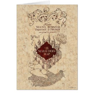Harry Potter Spell | Marauder's Map Card