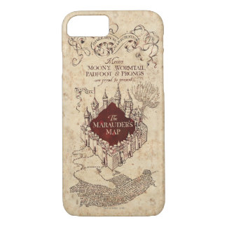 Harry Potter Spell   Marauder's Map iPhone 8/7 Case