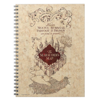 Harry Potter Spell | Marauder's Map Note Books