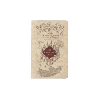 Harry Potter Spell | Marauder's Map Pocket Moleskine Notebook