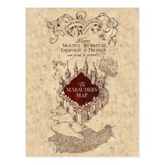 Harry Potter Spell | Marauder's Map Postcard