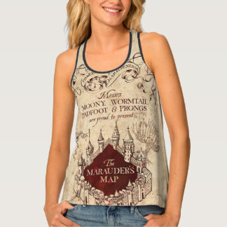 Harry Potter Spell | Marauder's Map Tank Top