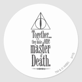 Harry Potter Spell   Master of Death Classic Round Sticker