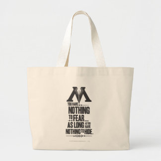 Harry Potter Spell   Ministry of Magic Propaganda Large Tote Bag