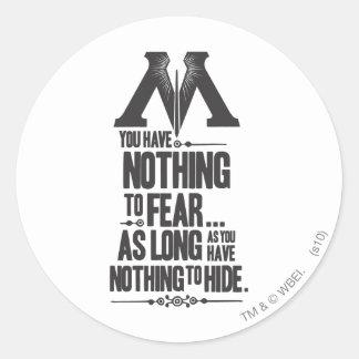 Harry Potter Spell | Ministry of Magic Propaganda Round Sticker