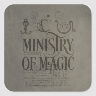 Harry Potter Spell | MINISTRY OF MAGIC Square Sticker