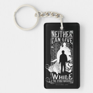 Harry Potter Spell   Neither Can Live Double-Sided Rectangular Acrylic Key Ring