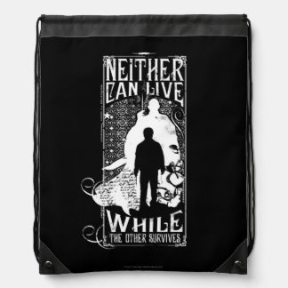 Harry Potter Spell | Neither Can Live Drawstring Bag