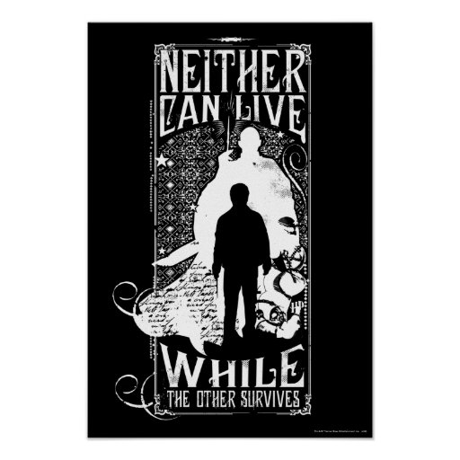 Harry Potter Spell | Neither Can Live Poster