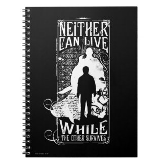 Harry Potter Spell | Neither Can Live Spiral Notebooks