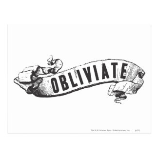Harry Potter Spell | Obliviate Postcard