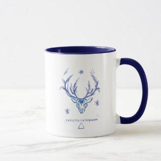 Harry Potter Spell   Stag Patronus Sketch Mug