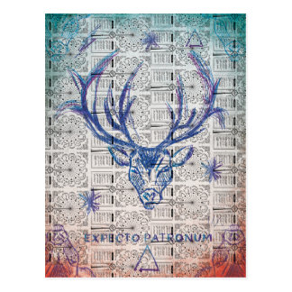 Harry Potter Spell | Stag Patronus Sketch Postcard