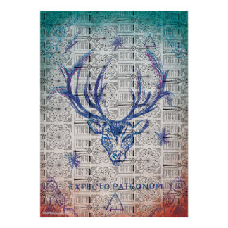 Harry Potter Spell | Stag Patronus Sketch Poster