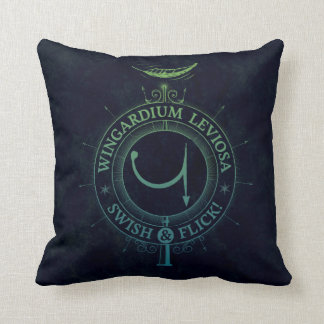 Harry Potter Spell | Wingardium Leviosa Graphic Cushion