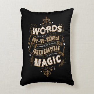 Harry Potter Spell   Words Are Our Most Inexhausti Decorative Cushion
