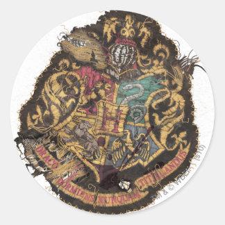 Harry Potter | Vintage Hogwarts Crest Classic Round Sticker