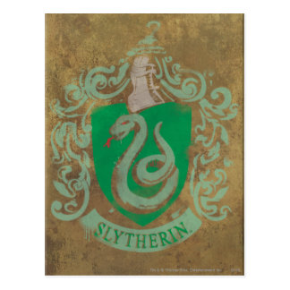 Harry Potter | Vintage Slytherin Postcard