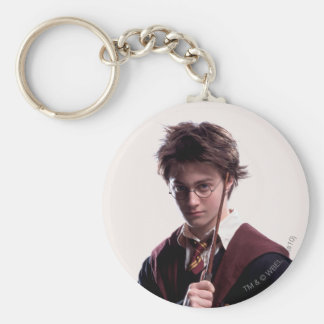 Harry Potter Wand Raised Basic Round Button Key Ring