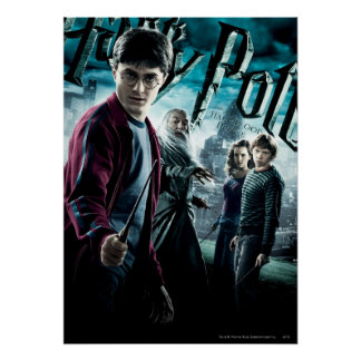 Harry Potter With Dumbledore Ron and Hermione 1 Poster