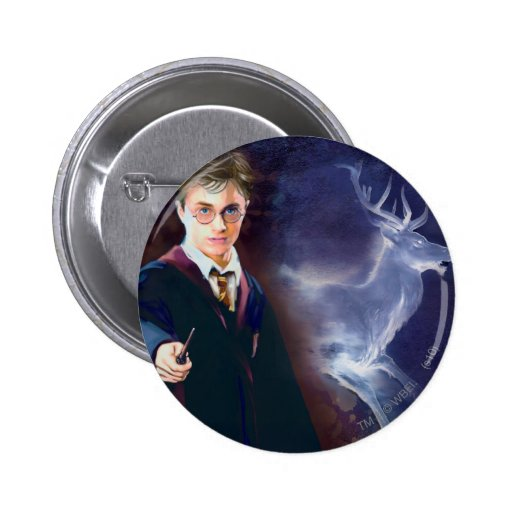 Harry Potter's Stag Patronus Pinback Buttons