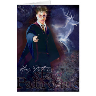 Harry Potter's Stag Patronus Greeting Card