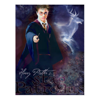 Harry Potter's Stag Patronus Postcard
