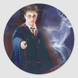 Harry Potter's Stag Patronus Round Sticker