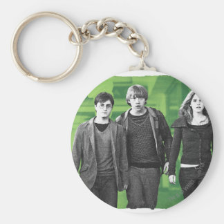 Harry, Ron, and Hermione 1 Basic Round Button Key Ring
