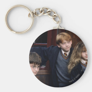Harry, Ron, and Hermione Basic Round Button Key Ring