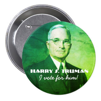 Harry S. Truman 7.5 Cm Round Badge