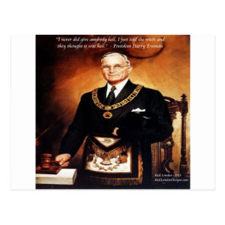 """Harry Truman """"Didn't Give 'Em Hell"""" Quote Postcard"""