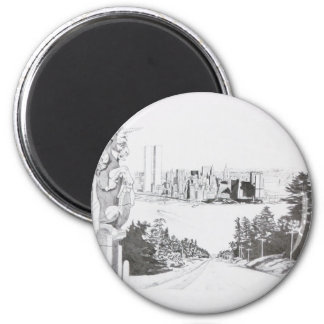 Hart art drawings old and new 061 6 cm round magnet