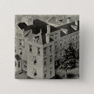 Hartford Connecticut Illustration 15 Cm Square Badge