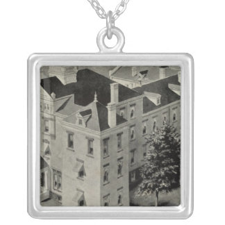 Hartford Connecticut Illustration Silver Plated Necklace