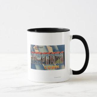Hartford, Connecticut - Large Letter Scenes 2 Mug