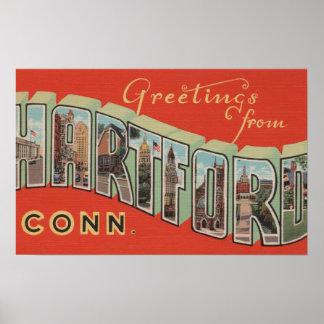 Hartford, Connecticut - Large Letter Scenes 3 Poster
