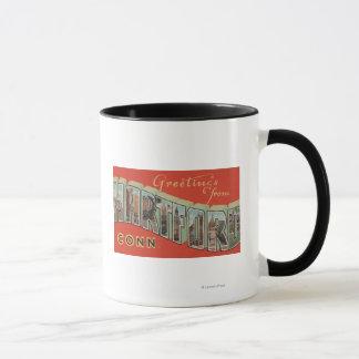 Hartford, Connecticut - Large Letter Scenes 4 Mug