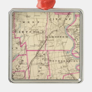 Hartford County Connecticut Christmas Ornament